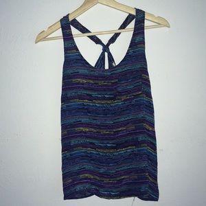 Rare F21 boutique silk tribal print cami S